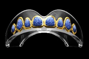 GOLD – BLUE DRIP Mouthguard